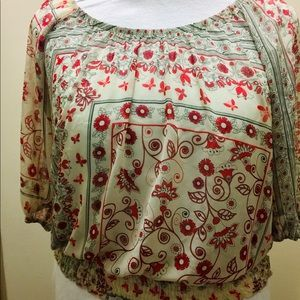 Torrid multi color blouse size 1X